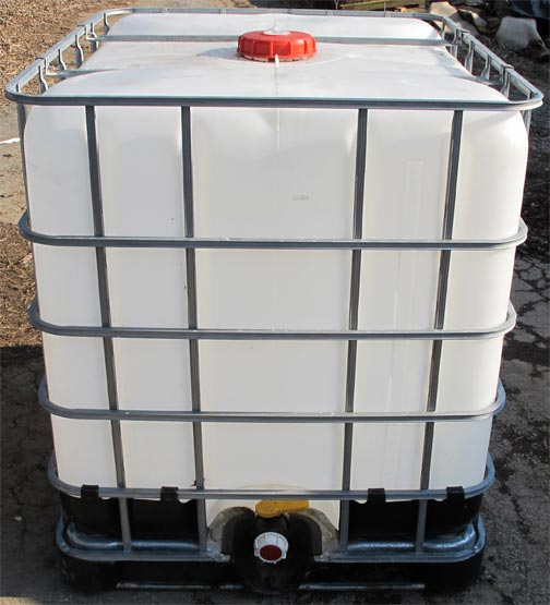 Used 275 gallon water storage totes for sale